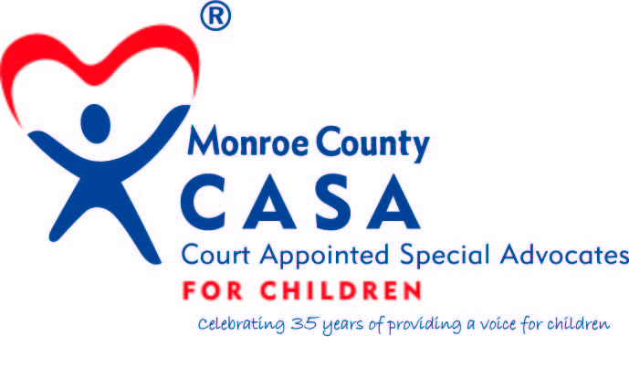 Logo for Monroe County CASA (Court Appointed Special Advocates for Children)