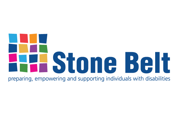 Logo for Stone Belt with the slogan Preparing, empowering, and supporting individuals with disabilities